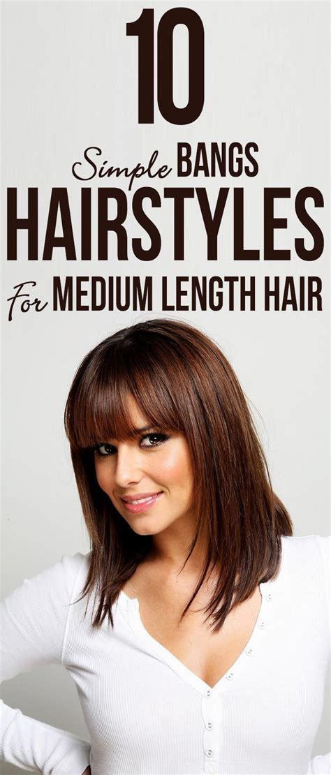 easy hairstyles for medium length hair with bangs 10 simple bangs hairstyles for medium length hair dance
