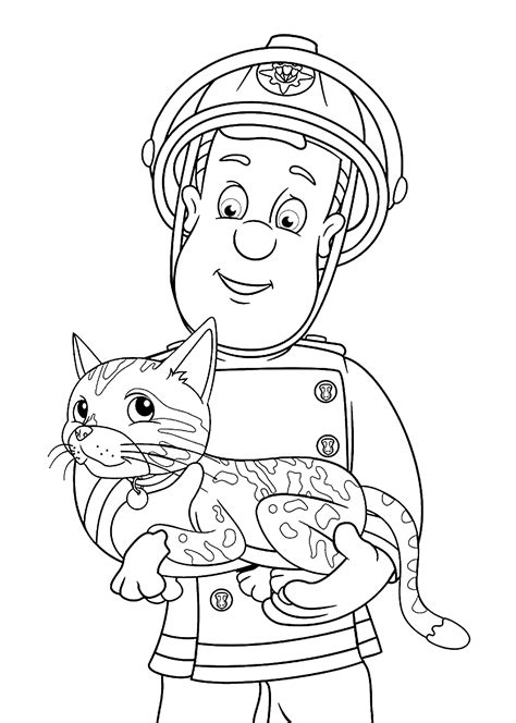 fireman sam coloring pages download print free