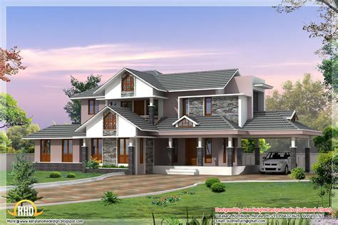 Dream Home Plans With Photos | 3 kerala style dream home elevations indian home decor
