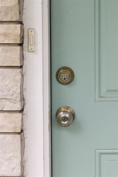 Exterior Door Knobs And Locks How To Update Your Door Lock For Better Curb Appeal The Diy Playbook