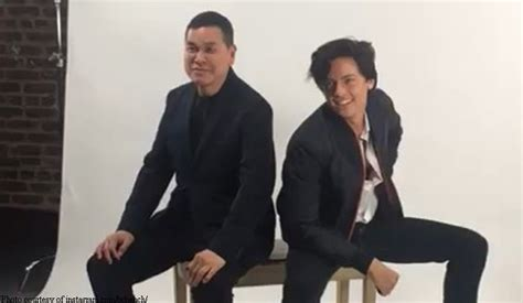 ben chan bench cole sprouse laughs with ben chan bilyonaryo