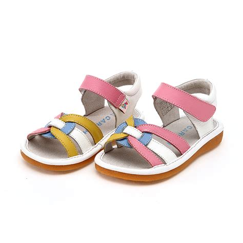 childrens sandals free shipping leather shoes imported gunuine