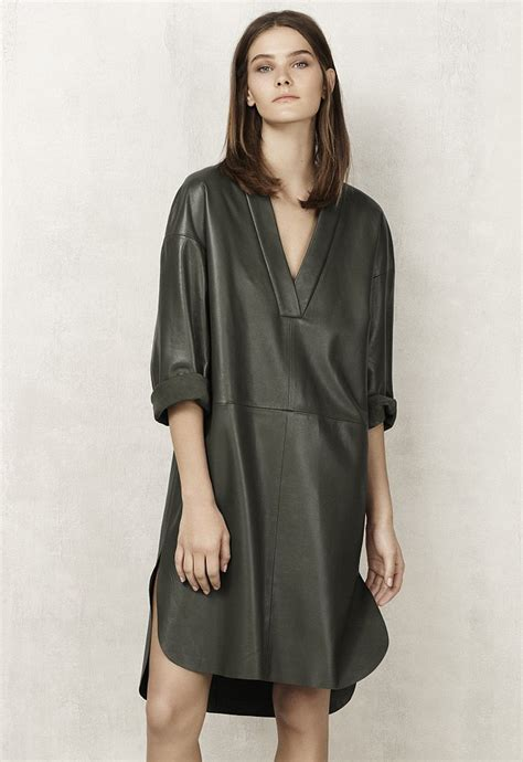 20609 Black S M Sale Leather Skirt can this olive leather dress revive m s high store unveils its trendy new collection