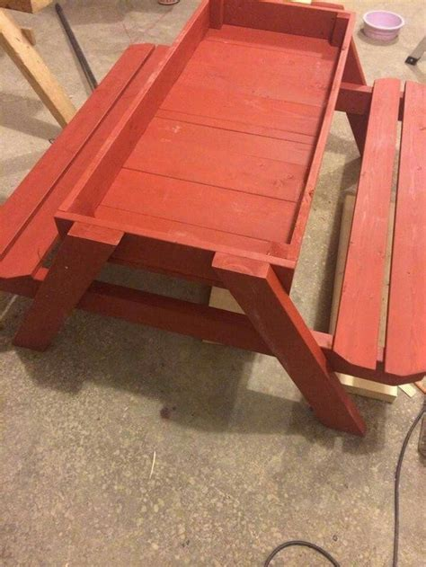 how to build a picnic table and sandbox combo diy