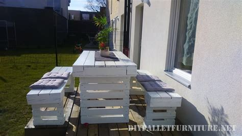 costruire un tavolo da giardino progetto di pallet fai da te per le panche da giardino e