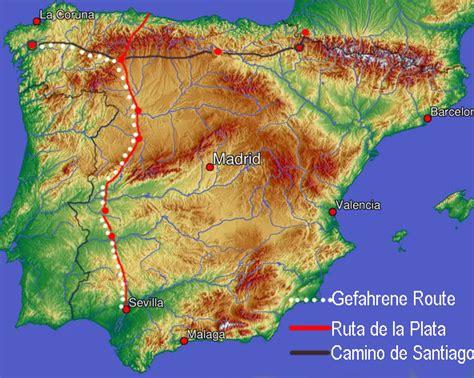 camino de la plata ruta de la plata and the last third of the camino de
