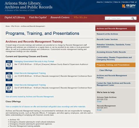 Arizona State Library Archives And Records Best 25 Records Management Ideas On