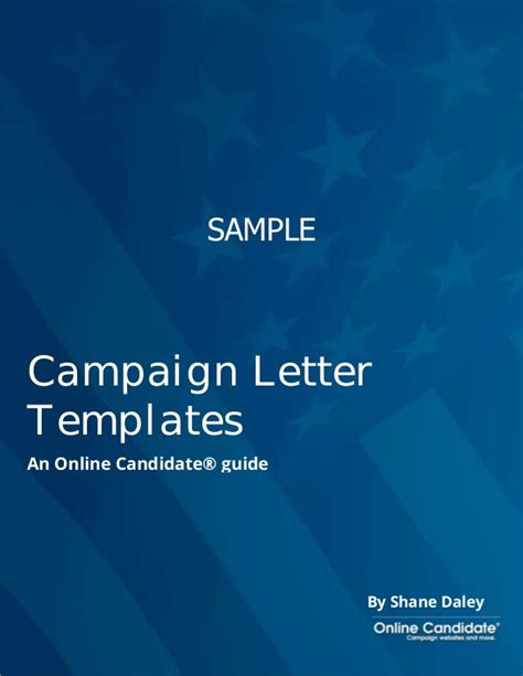 Letter Support Political Candidate political caign letter templates sle