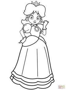 Princess Daisy Coloring Pages Chuckbutt Com Beautiful Princess Coloring Pages