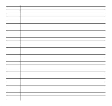 college ruled lined paper template sle college ruled paper template 9 free documents in