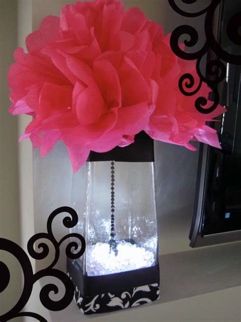 pink and black centerpieces for weddings pink and black wedding table decorations pink black