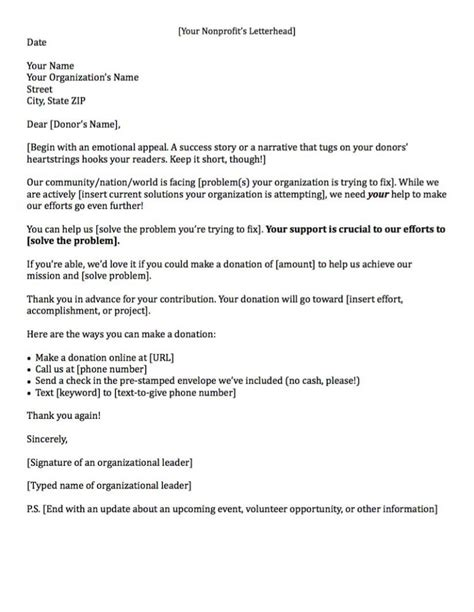 charity appeal letter format fundraising letters 7 exles to craft a great
