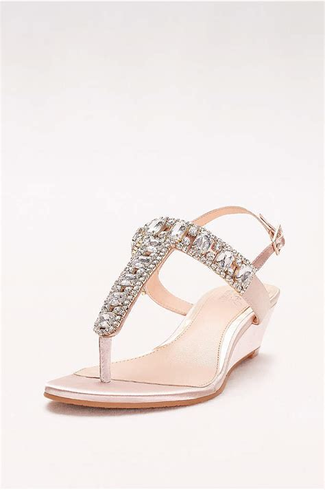 t satin wedges davids bridal