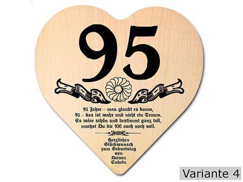 Hochzeit 67 5 Jahre by Geschenk Zum 95 Geburtstag Herz Holzschild Mit
