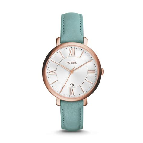 Teal Green Fossil jacqueline three date teal leather fossil