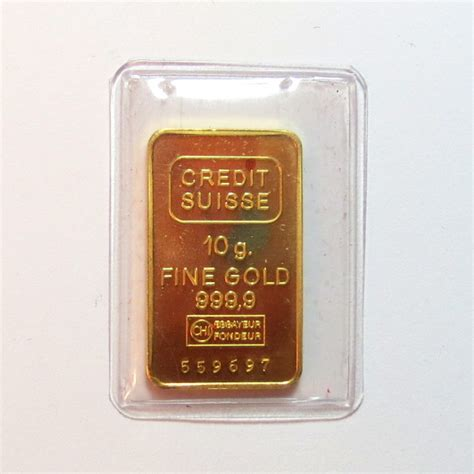 Credit Suisse Form 10 K Credit Suisse 10g 9999 Gold Bar