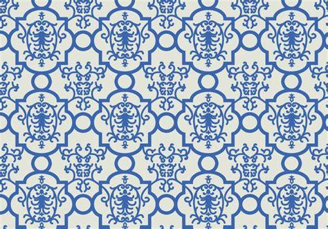 vector pattern background blue blue floral pattern background download free vector art