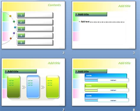 free powerpoint template theme nice powerpoint theme set