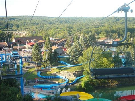 tannersville poconos view from chair lift picture of camelbeach mountain