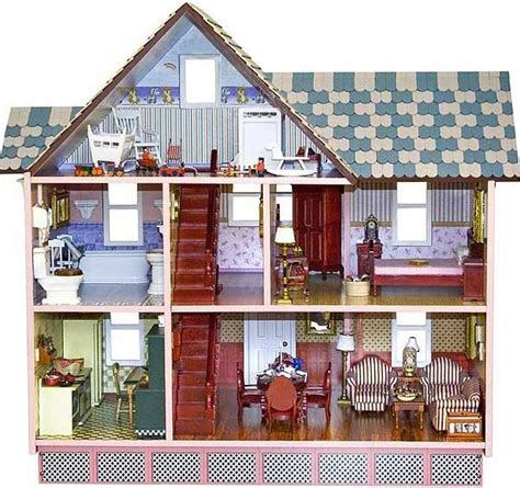 victorian wooden dolls house melissa doug doll house classic heirloom victorian wooden dollhouse new ebay