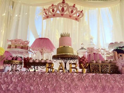Baby Shower Decor Little Princess Baby Shower Cake Tutu And Tiara Baby
