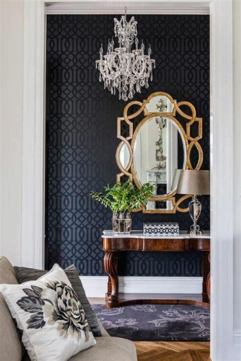Superior Chambre En Bambou But  #7: Idees-papier-peint-pour-couloir-de-couleur-noir-couloir-baroque-idee-deco-couloir.jpg