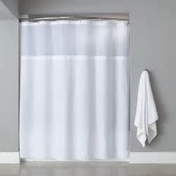 hooked hbg40mys01 white polyester premium shower curtain
