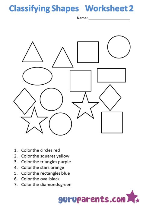 Sorting Shapes Worksheets For Kindergarten by Counting Shapes Worksheets Kindergarten Sort And Count