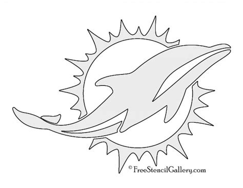 coloring pages of miami dolphins nfl miami dolphins stencil free stencil gallery