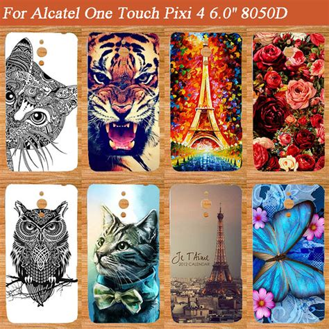Softcase 4 Tiger diy painting colored tiger owl soft tpu cover for