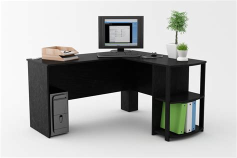 Corner Desk Computer Workstation L Shaped Corner Desk Workstation Computer Home Office Executive Gaming Table Ebay