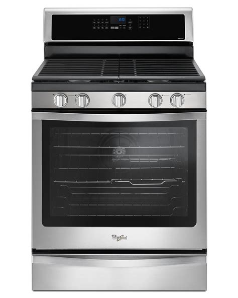 whirlpool gas range reviews whirlpool wfg745h0fs 5 8 cu ft gas range with center