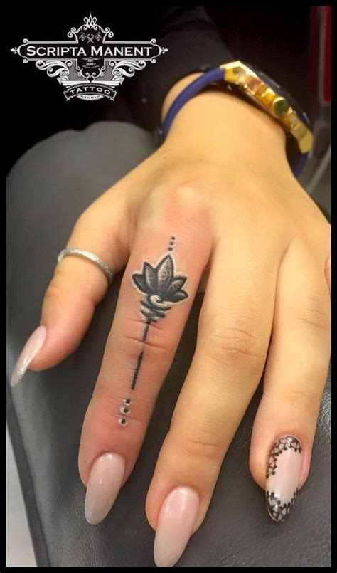 finger tattoo vancouver 50 beautiful finger tattoo for women lotus finger and