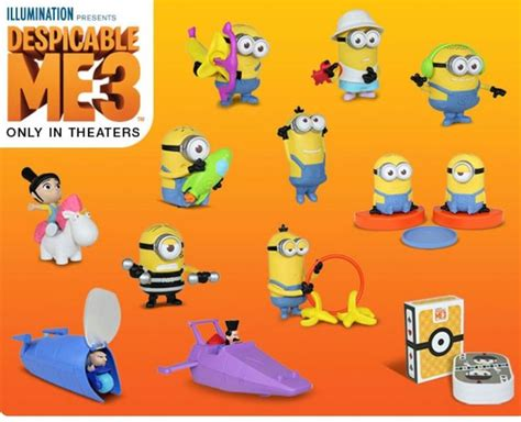 Mcdonald S One Summer Toys mcdonalds 2017 minions despicable me 3 toys complete set of 12 toys pre sale ebay ก t o