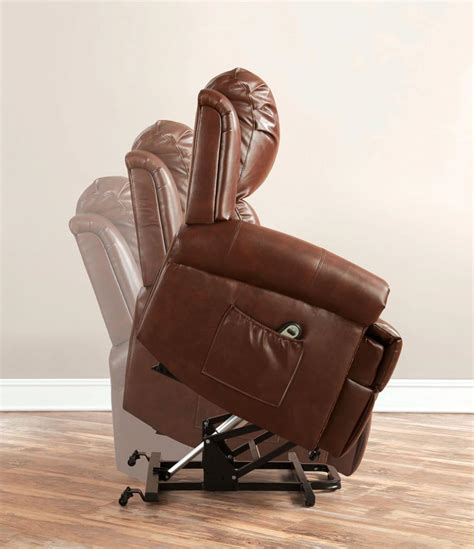 Leather Recliner Lift Chairs by Stand Power Lift Brown Leather Recliner