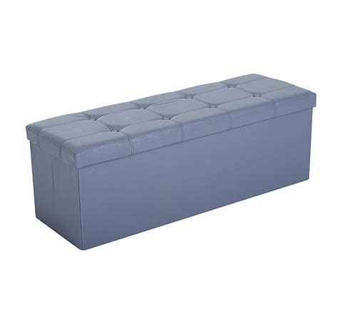 43 Quot Large Folding Ottoman Storage Bench Box Lounge Seat Ottoman Seat Storage Bench