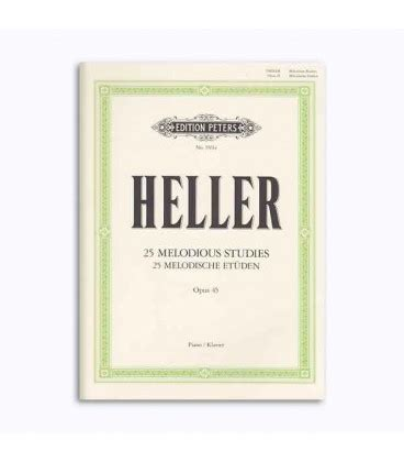 Buku Piano Heller Op 45 editions peters book ep3561a heller melody study op 45