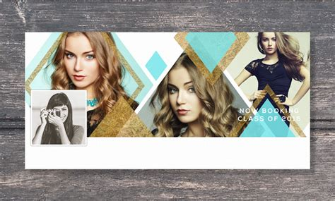 facebook cover template senior photography diamond