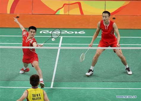 Table Epl China Wins Gold Medal Of Men S Doubles Badminton At Rio