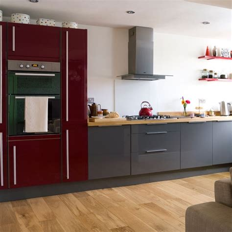 red and grey modern kitchen modern decorating ideas
