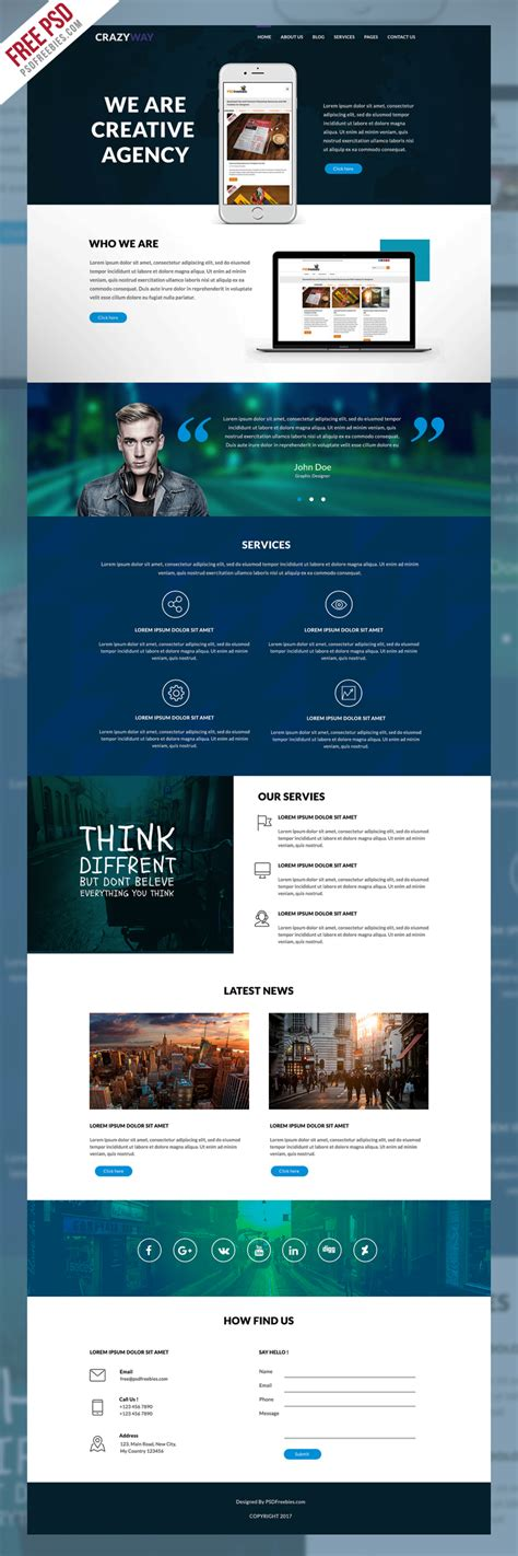 web templates for advertising agency creative agency website template free psd psdfreebies com