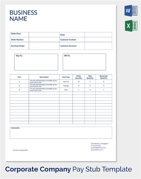 25 Sle Editable Pay Stub Templates To Download Sle Templates Make A Pay Stub Template