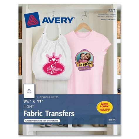avery iron on paper avery iron on transfer paper ave3271 shoplet com