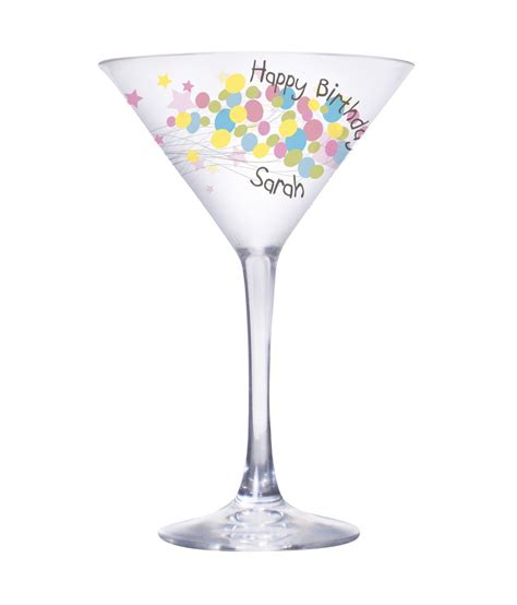 personalised birthday balloon cocktail glass just for gifts