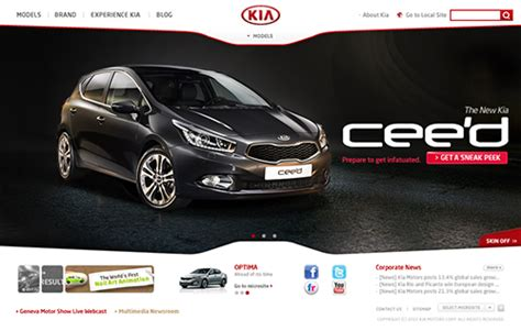 Kia Official Website Automobile Websites 20 Awesome Exles Of Automobile