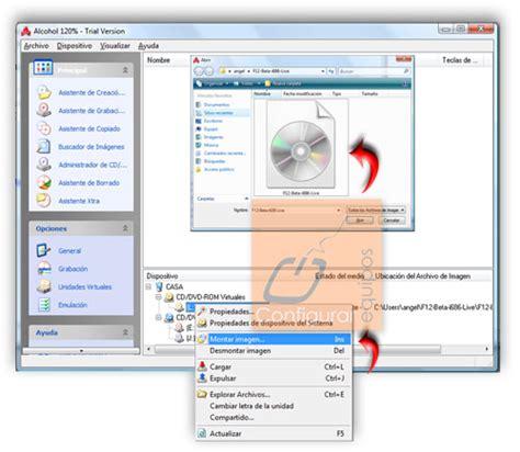 montar imagenes virtuales iso c 243 mo montar y grabar imagen de disco iso
