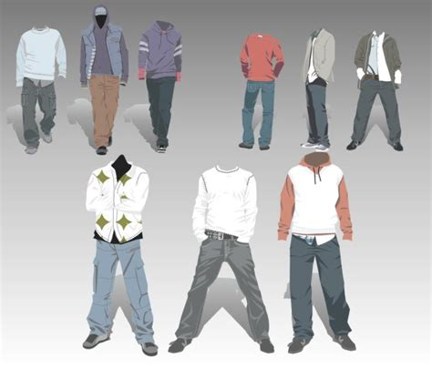 s clothing design elements vector set vector