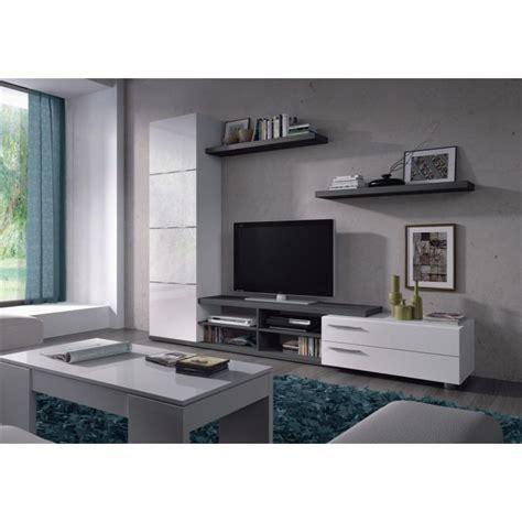 etagere 90 cm largeur meuble tv hi fi adhara meuble tv mural 240 cm blanc gris