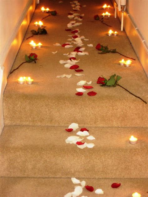 romantic designs romantic candles and roses bedroom a rose petal path
