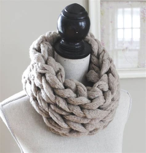 simply maggie arm knitting chunky arm knit infinity scarf knit scarves